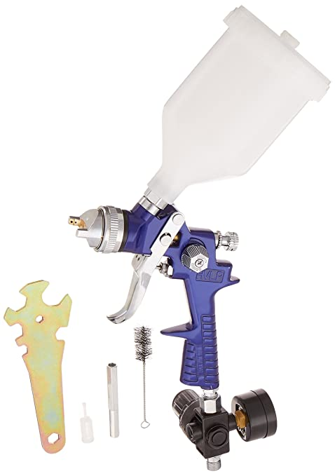 Hvlp topcoat spray gun setup with 1. 3 nozzle/tip/regulator.