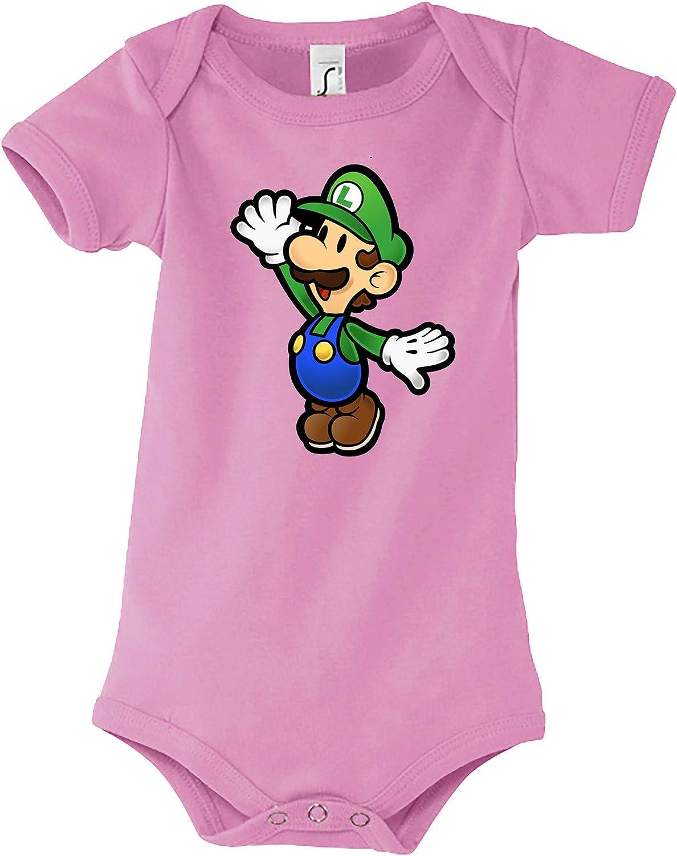 Gr/ö/ße 3-24 Monate in vielen Farben TRVPPY Baby Jungen /& M/ädchen Kurzarm Body Strampler Modell Luigi