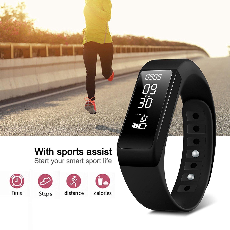 DAX-HUB IP65 Bluetooth V4.0 I5 Smart Watch Inteligente con Pantalla Cámara Táctil para Android iOS iPhone Samsung Galaxy HTC Sony Calculadora, ...