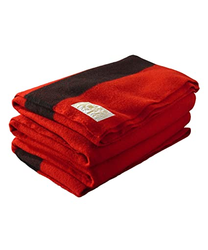 Buy Hudson Bay 4 Point Blanket, Scarlet with Black Stripes