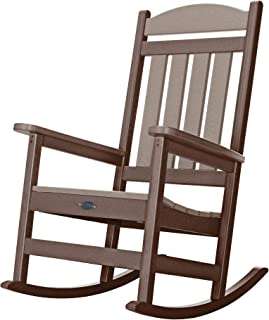product image for Nags Head Hammocks Classic Porch Rocker, Chocolate and Weatherwood
