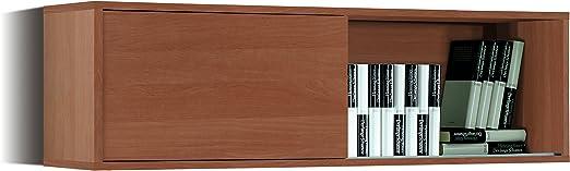 Abitti Estante, estanteria aerea o modulo aerero Color Cerezo para despacho, Oficina o Comedor 34x109x33 cm: Amazon.es: Hogar