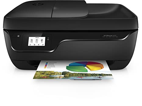 HP OfficeJet 3830 - Impresora multifunción de tinta (WiFi, B/N 20 PPM, color 16 PPM, fax) color negro