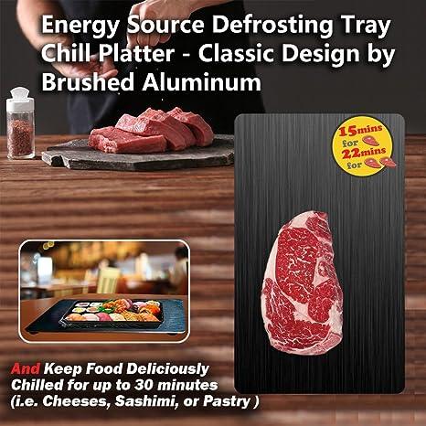Fuente de energía descongelación bandeja + Chill Platter, la manera más segura para descongelar alimentos