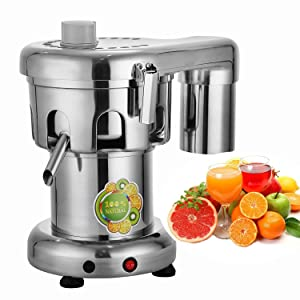 VEVOR Juice Extractor 370W Commercial Juice Extractor 176lbs/hr Capacity Centrifugal Juicer Stainless Steel Extractor Machine Heavy Duty Professional