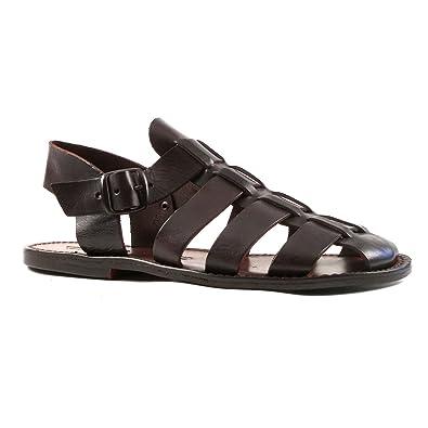 Gianluca - Handmade men's 502 genuine leather sandals