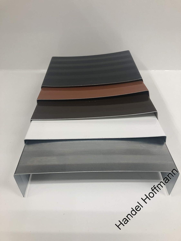 Mauerabdeckung Attika Blech UDS Verbinder Verbindungst/ück farbig+Titanzink Anthrazit, Zuschnitt 40 cm