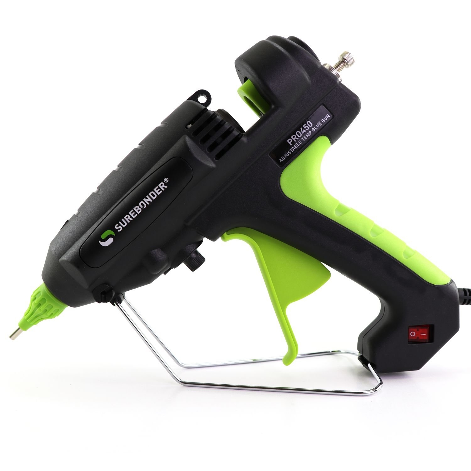 PRO450 400 Watt Adjustable Temperature Professional Heavy Duty Hot Glue Gun - Uses full size, 7/16'' sticks