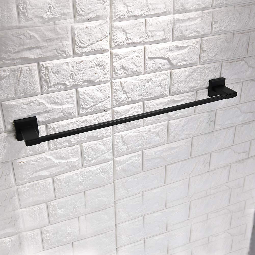 Q6008BK Turs 3 piezas de ba/ño accesorio conjunto de sus 304 inoxidable acero inodoro soporte de papel toalla bar//soporte albornoz gancho de pared acabado negro mate