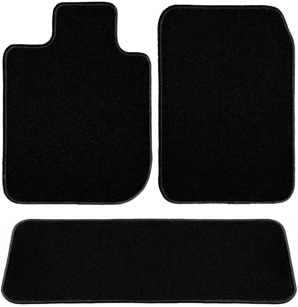 2013 Infiniti G37 Coupe Black Driver Passenger /& Rear Floor 2012 2009 2010 2011 GGBAILEY D50069-S2B-BLK Custom Fit Car Mats for 2008