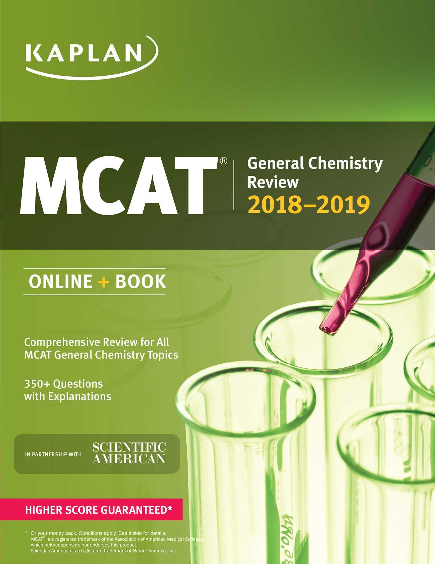 MCAT General Chemistry Review 2018-2019: Online + Book: Kaplan Test Prep:  9781506223834: Books - Amazon.ca