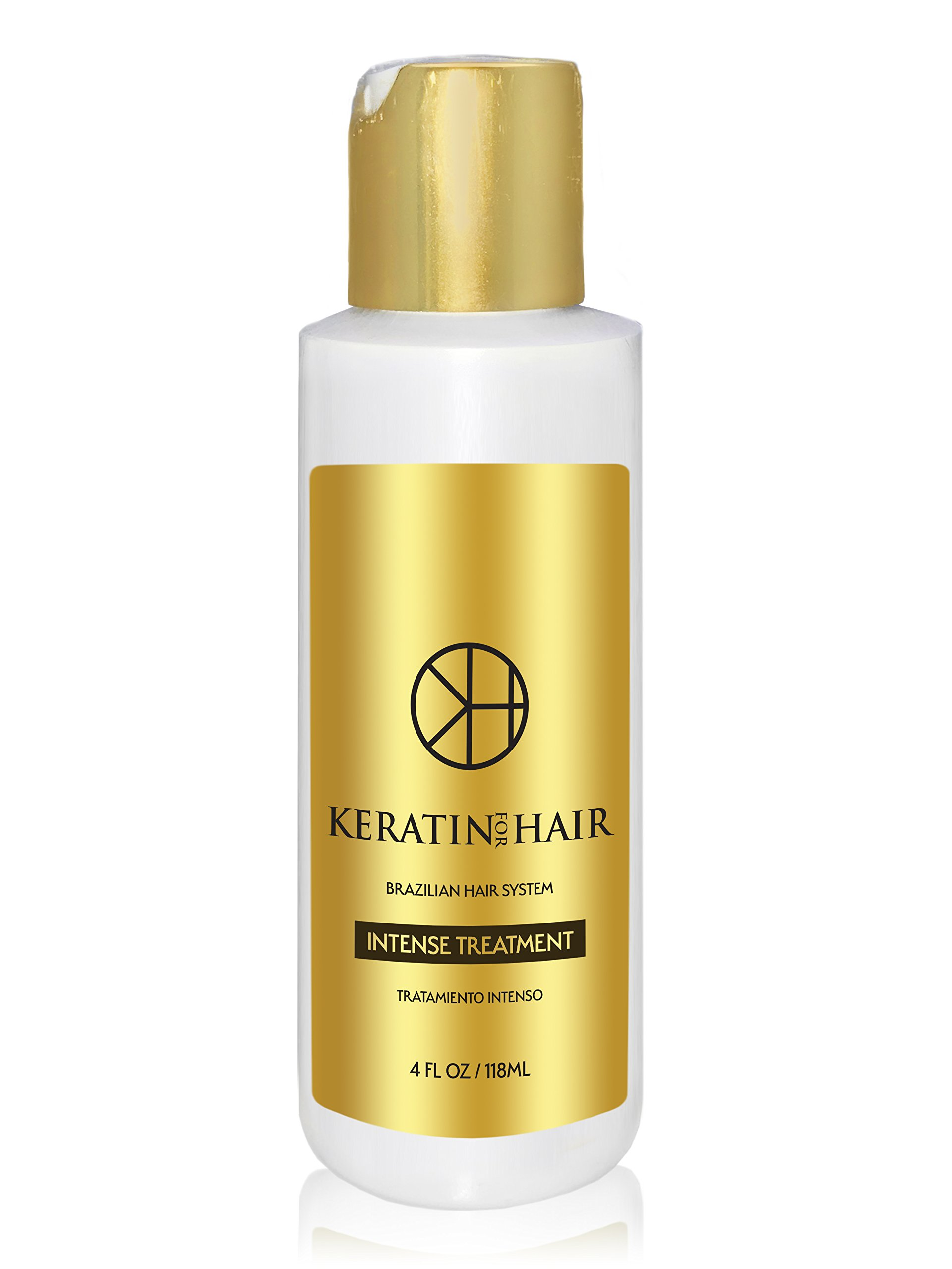 Brazilian Keratin Hair Treatment Professional Intense Smoothing Complex Blowout with Argan Oil New Formula & Fragrance By Keratin For Hair For all hair types Damage Frizzy Coarse Afro hair (4 fl oz)
