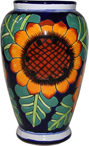 Fine Crafts Imports Sunflowers Mermaid Talavera Flower Vase