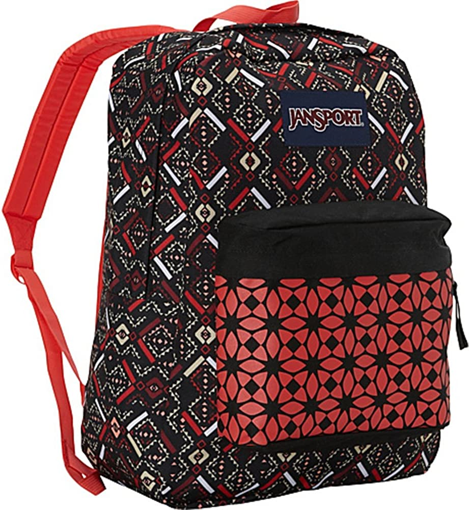 JanSport Classic Superbreak Backpack Coral Dusk Tribal Mosaic