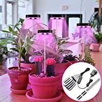 4 Head LED Grow Light for Indoor Plants, 80 Lamp Beads Adjustable Plant Growth Light, 5 Levels Dimming, 3/6/12H Timer, 3…