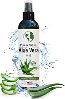 product image for Organic Aloe Vera Gel from 100% Pure and Natural Cold Pressed Aloe - Great for Face - Hair - Acne - Sunburn - Bug Bites - Rashes - Eczema - 8 oz.