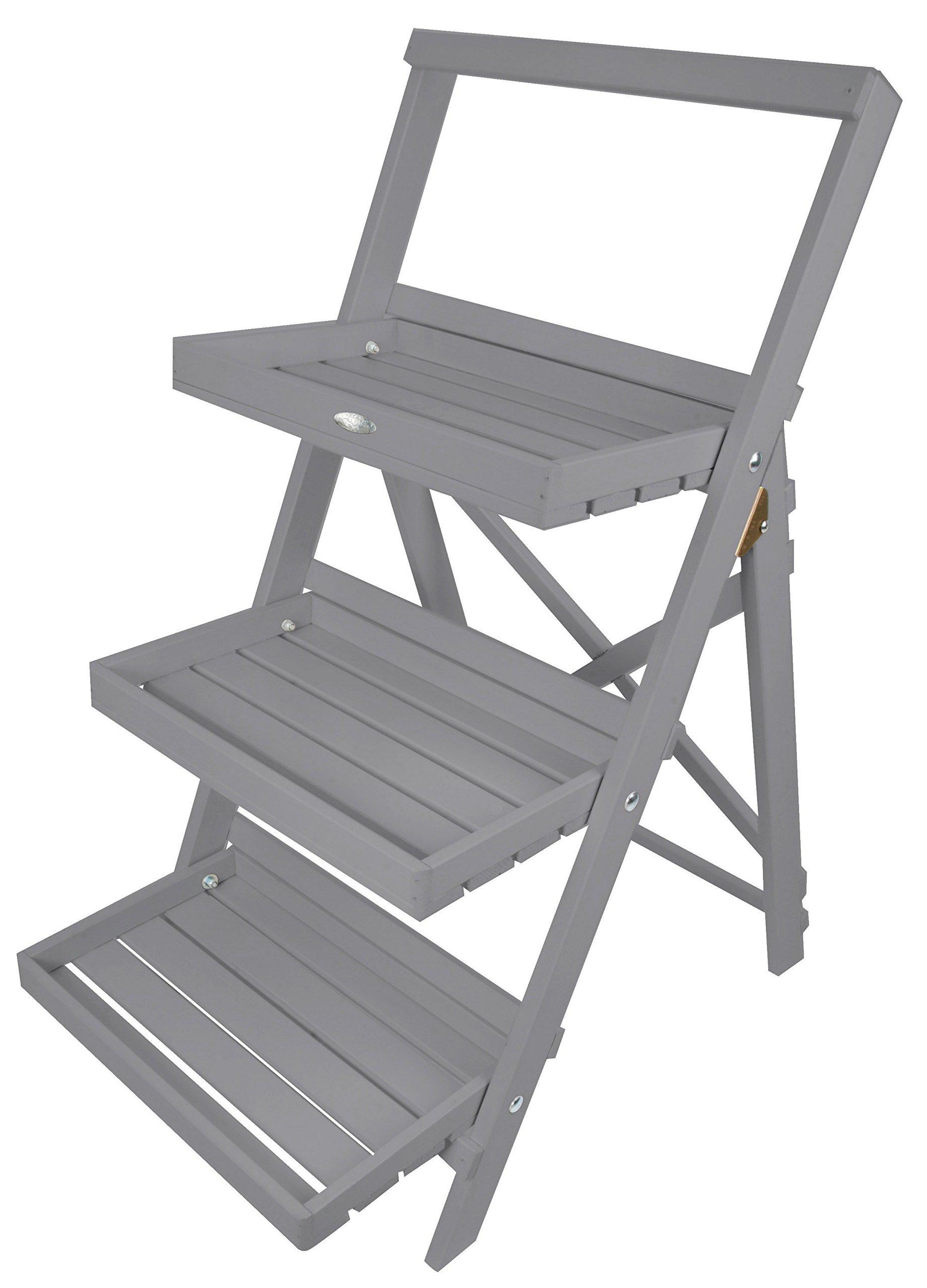 Esschert Design Stepped Plant Stand, Gray by Esschert Design