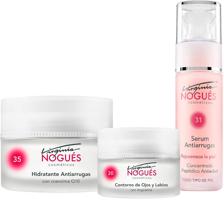 Tratamiento Antiarrugas Rejuvenecedor - Pack 3 productos Serum, Crema Q10, Contorno de ojos y labios: Amazon.es: Belleza