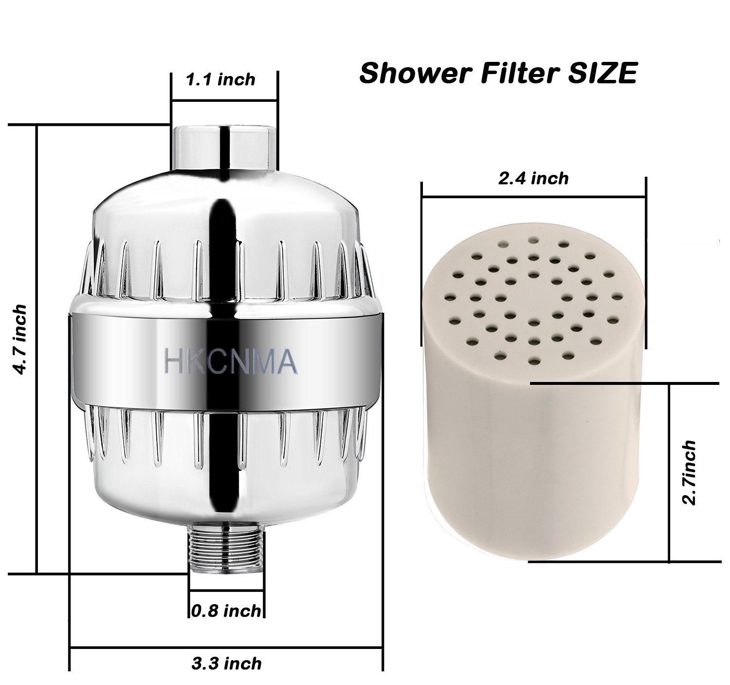 Ltd. Shower Filter 10 Stage with 2 Replaceable Filter Cartridges Water Filters for Any Showerheads /& Handheld Shower-Remove chlorine Shenzhen HKCNMA Co