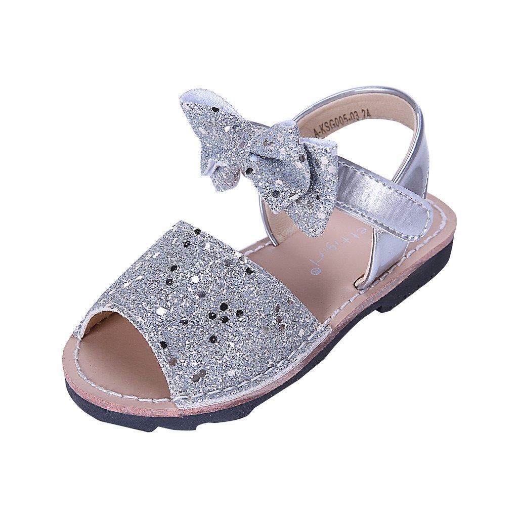 Pettigirl Ni/ñas Zapatos Antideslizante Lentejuela Sandalias
