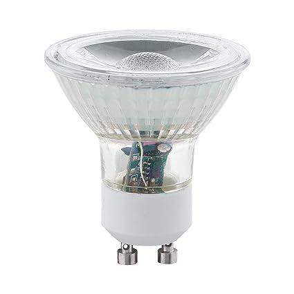 Eglo 11511 – Juego de 2 bombillas LED GU10 COB 3000 K 5 W 400 Lumens