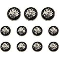 Funcoo 11 pcs Metal Blazer Button Vintage Antique Suits Button Set for Blazer, Suits, Sport Coat, Uniform, Jacket, Coat