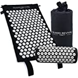 GR Acupressure Mat and Pillow Set - Back and Neck Pain Relief - Relieves Stress, Back, Neck and Sciatic Pain - Comes with a Cotton Carry Bag for Storage and Travel