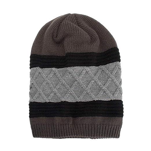 Kinlene Mujeres Hombres Cálido Baggy Tejido Crochet Invierno Lana Tejido Esquí Beanie Skull Caps Sombrero: Amazon.es: Ropa y accesorios