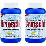Brioschi Effervescent 8.5oz (2 Bottles) The Original Lemon Flavored Italian Effervescent - 2 Bottles