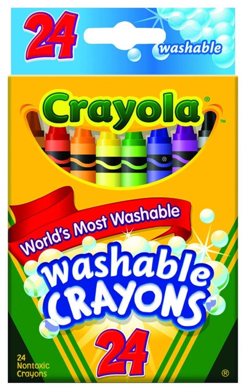 amazon com crayola 24 ct washable crayons toys games