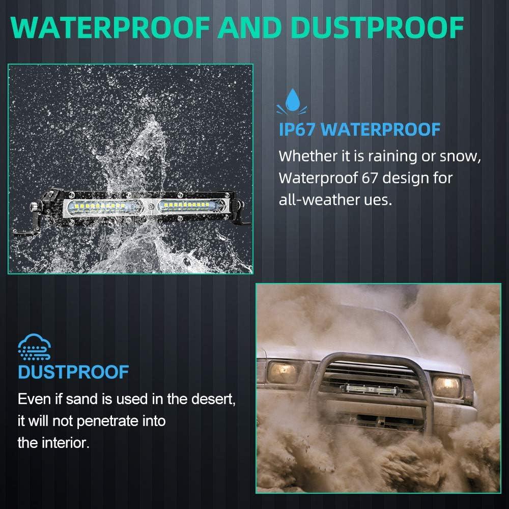 JoaSinc 4 Zoll 72W LED Arbeitsscheinwerfer Bar Offroad 4X4 Zusatzscheinwerfer LED Scheinwerfer Arbeitslicht Punktlicht Flutlichtstrahler Combo Auto ATV SUV 4WD 12V//24V 1 Jahr Garantie