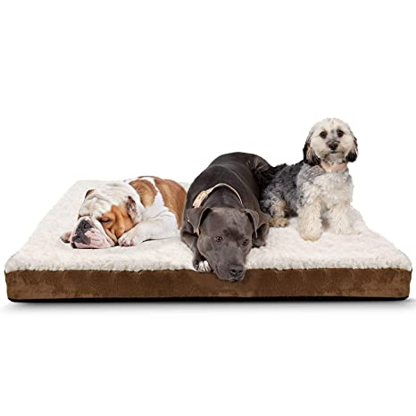 be0074677e7 Paws & Pals Orthopedic Pet Bed Foam-Mattress for Dogs & Cats - Quilted  Rectangular