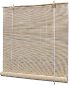 vidaXL Persiana/Estor Enrollable de bambú Natural 80 x 160 cm ...