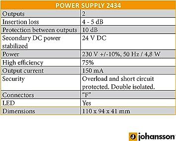Kit de preamplificador de antena de TV Johansson para TDT y TDT HD con filtro activo de 4G/LTE y fuente de alimentación. Kit Preamplificador UHF de 15 ...