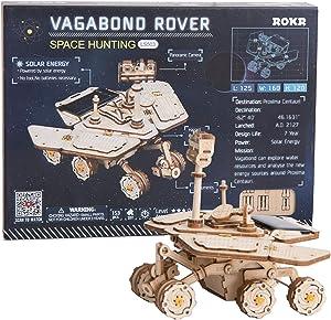 ROKR 3D Wooden Puzzle Solar Power Toy STEM Project (Vagabond Rover)