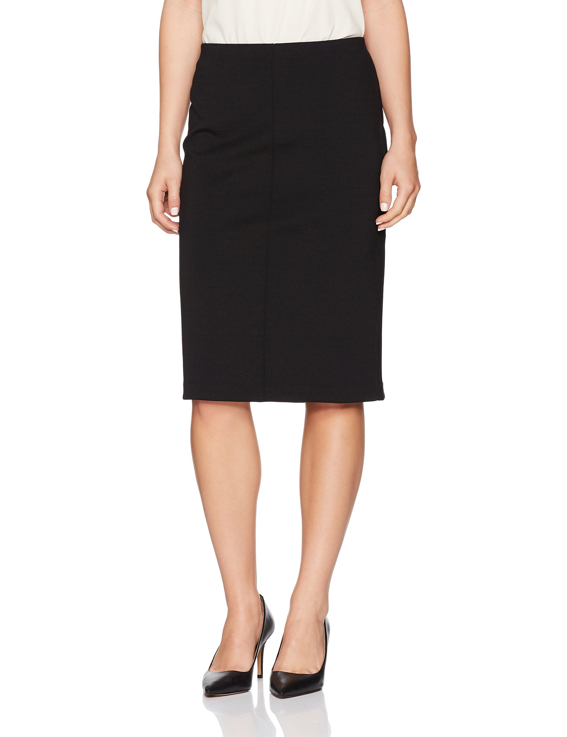 Ruby Rd. Women's Petite Pull-on Stretch Ponte Pencil Skirt, Black, XL by Ruby Rd.