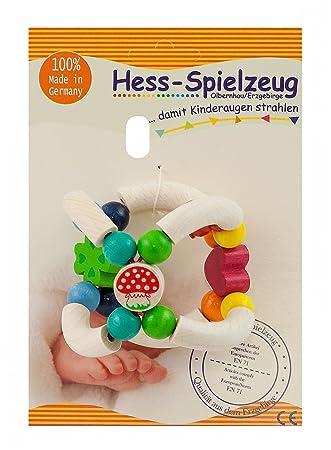 """Hess 11017 Kugel-Rassel /""""Pilz/"""" mit Glöckchen Holzrassel Erzgebirge NEU #"""