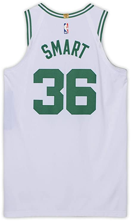 reputable site 530fb 56772 Marcus Smart Boston Celtics Game-Used #36 White Jersey vs ...