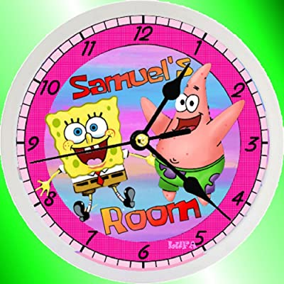 Personalized SpongeBob SquarePants & Patrick Wall Clock (9