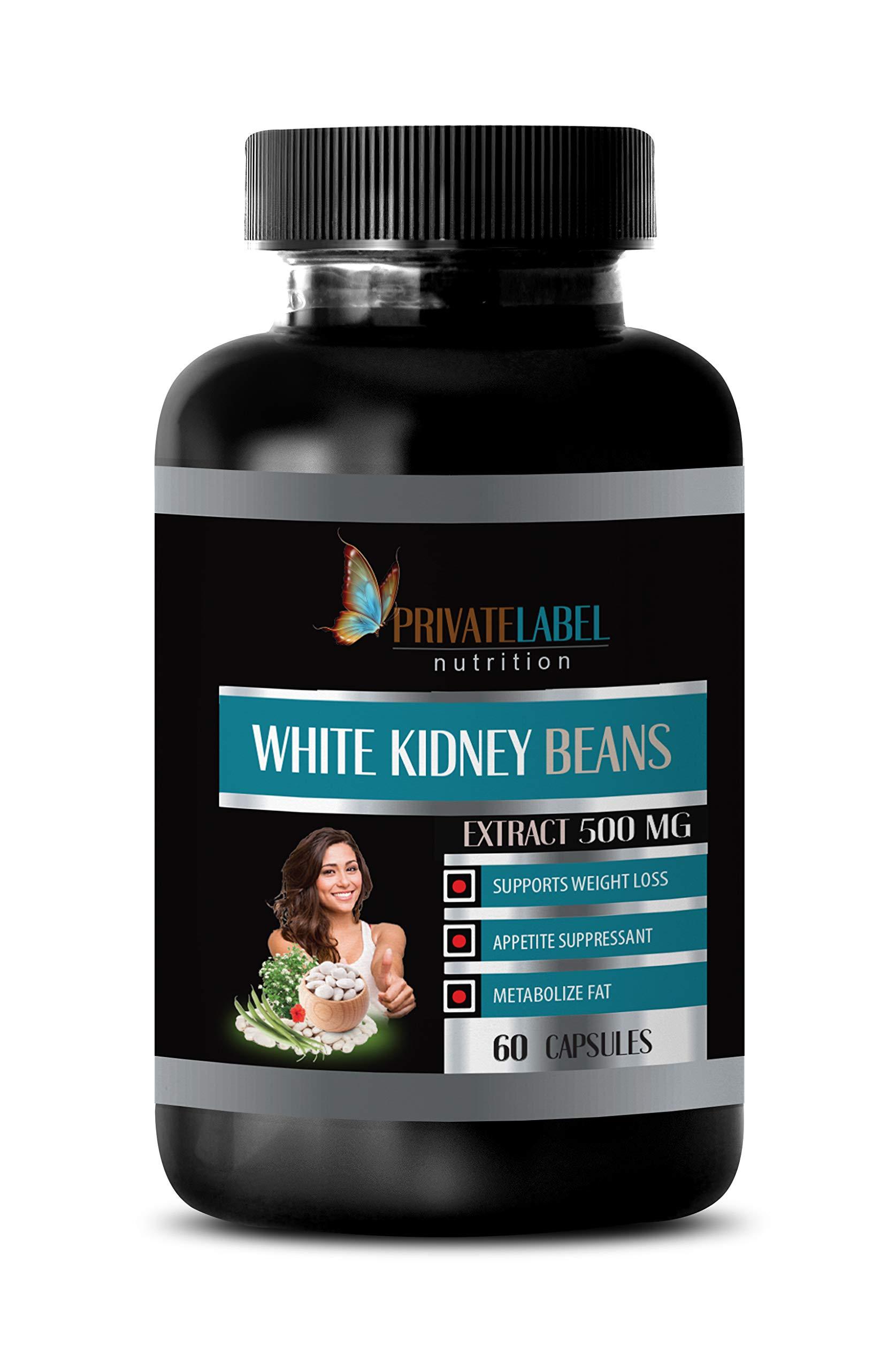 Appetite suppressant Fat Burning for Weight Loss - White Kidney Beans Extract 500 mg - White Kidney Bean Extract mega - 1 Bottle (60 Capsules)