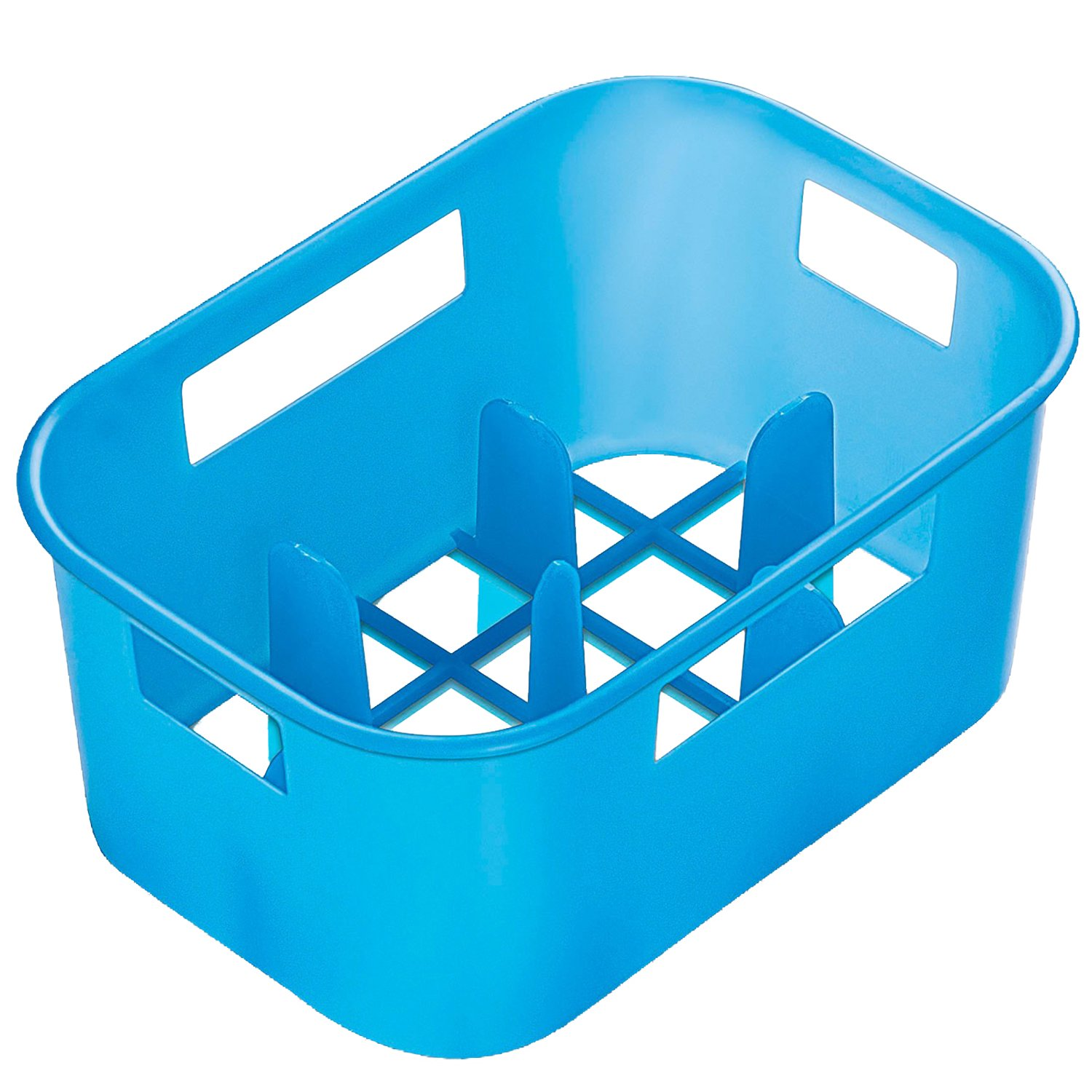 Reer 256.11 bottle crate, blue translucent