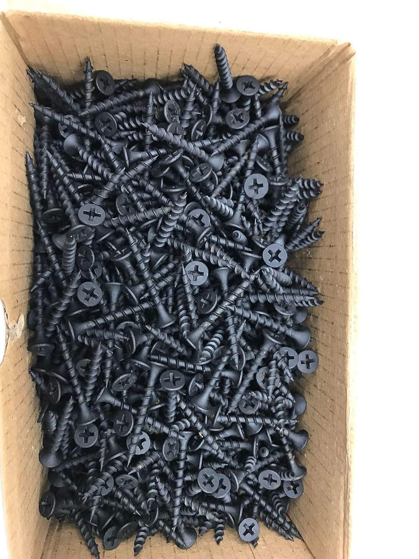 Bugle Head Phillips Drive. 1000 Pcs Berta #6-1 1//4 Contractors Grade Drywall Black Oxide Construction//Wood Screws