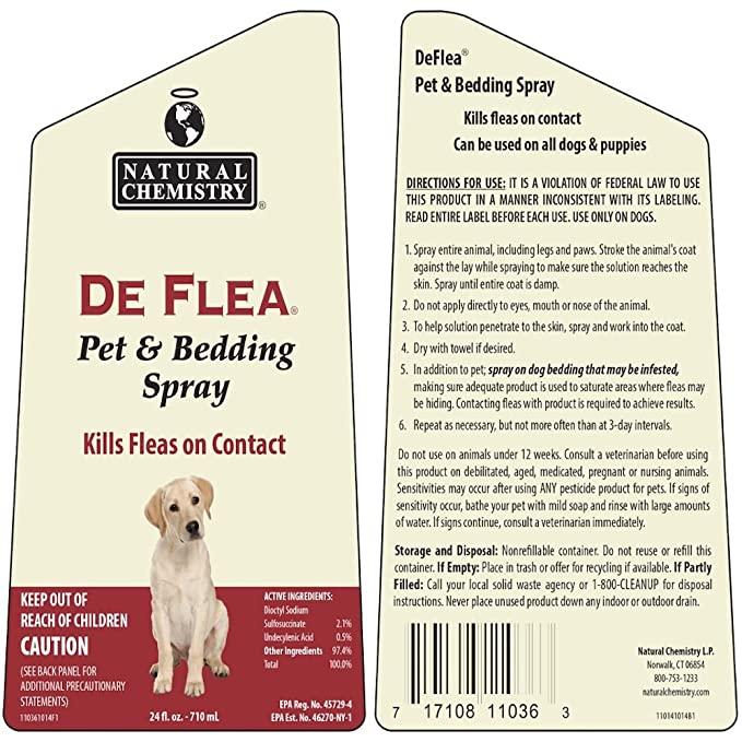 amazon com de flea pet bedding spray for dogs 24oz not for use on cats pet flea and tick sprays pet supplies
