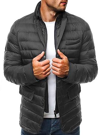 Online-Einzelhändler Online-Shop neueste Kollektion OZONEE Herren Winterjacke Sweatjacke Steppjacke Wärmejacke Jacke ohne  Kapuze Gesteppt Sportjacke J.Style 3100