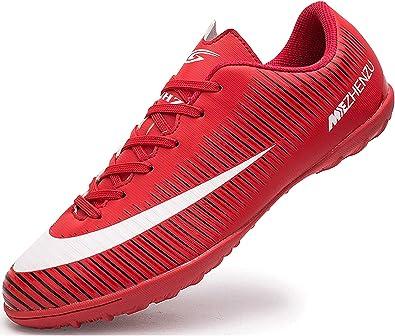 Ikeyo Zapatillas de Fútbol Hombre Profesionales Botas de Fútbol Aire Libre Atletismo Zapatos de Entrenamiento Zapatos de fútbol: Amazon.es: Zapatos y complementos