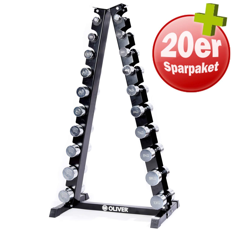 OLIVER Cromo de Pesas 1 - 10 kg Juego Completo de Pesas Torre ...
