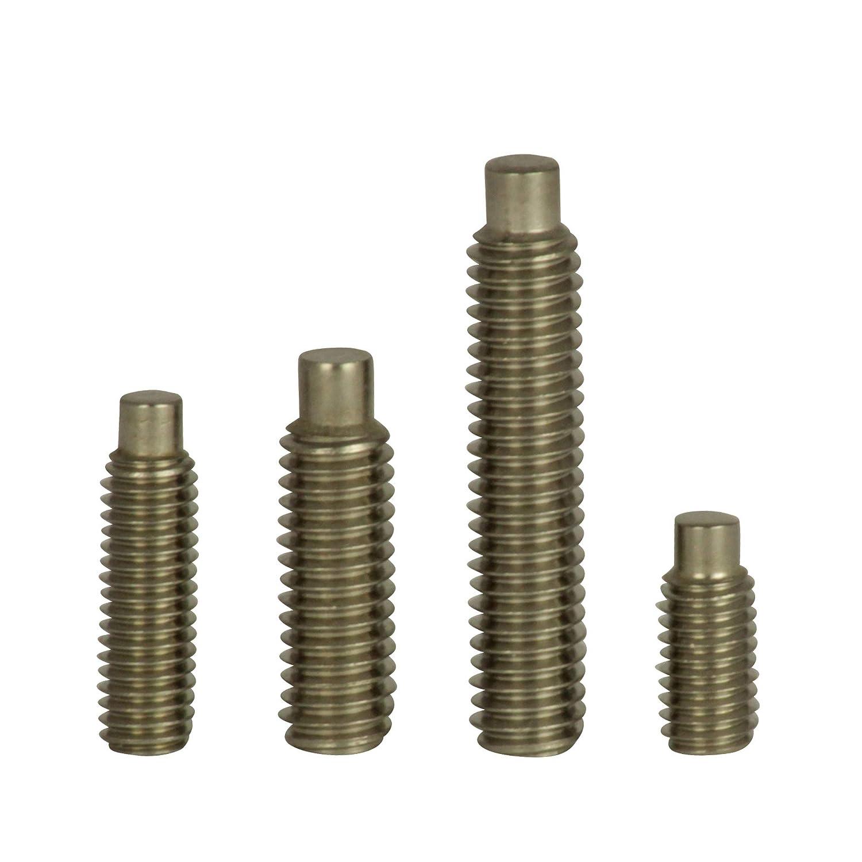 Wurmschrauben Edelstahl A2 - Madenschrauben V2A DIN 915 M8x50 10 St/ück - D/´s Items/® Gewindestifte mit Zapfen