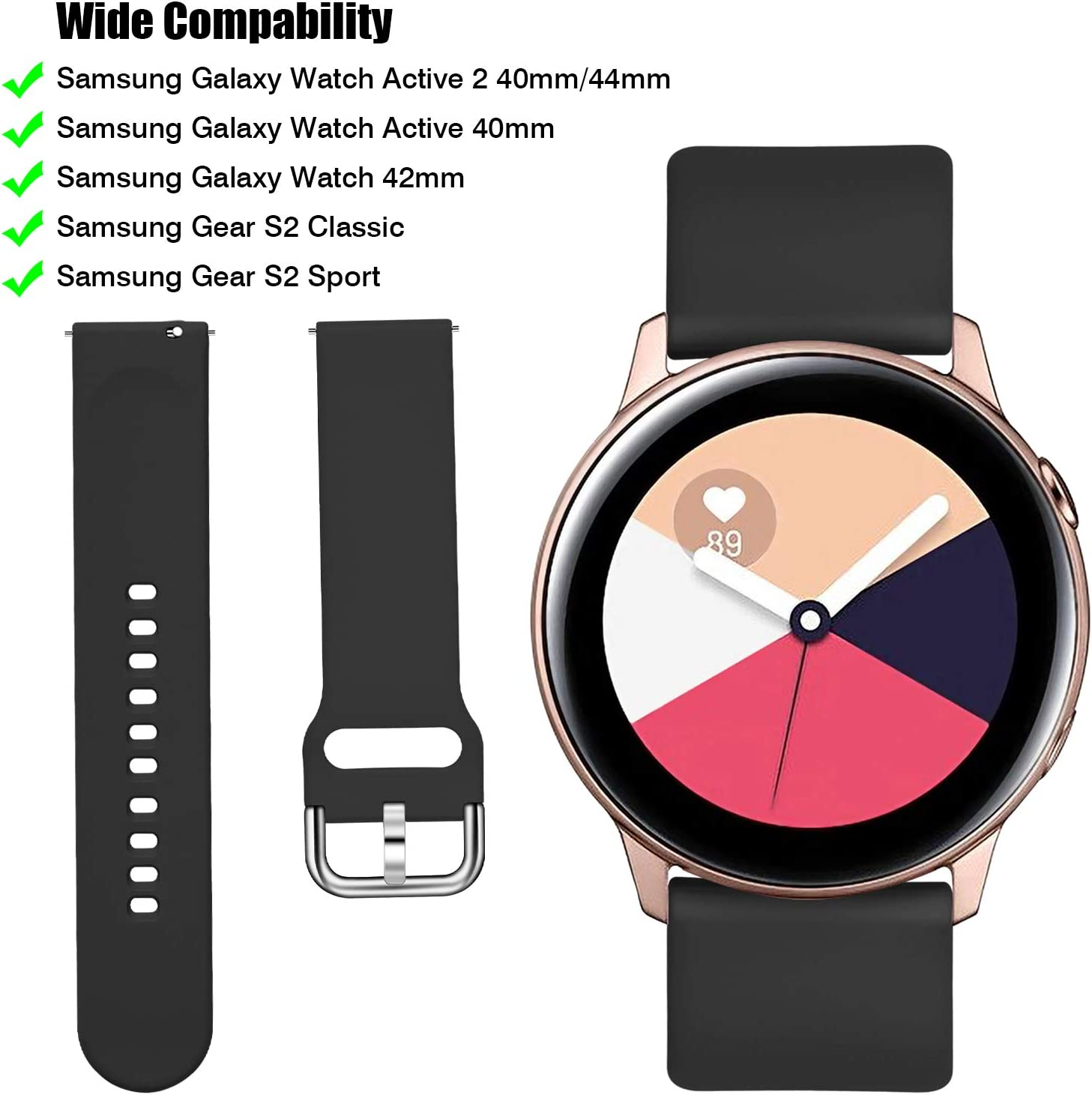 Malla para reloj Samsung Galaxy Watch Active 2 40mm 44mm