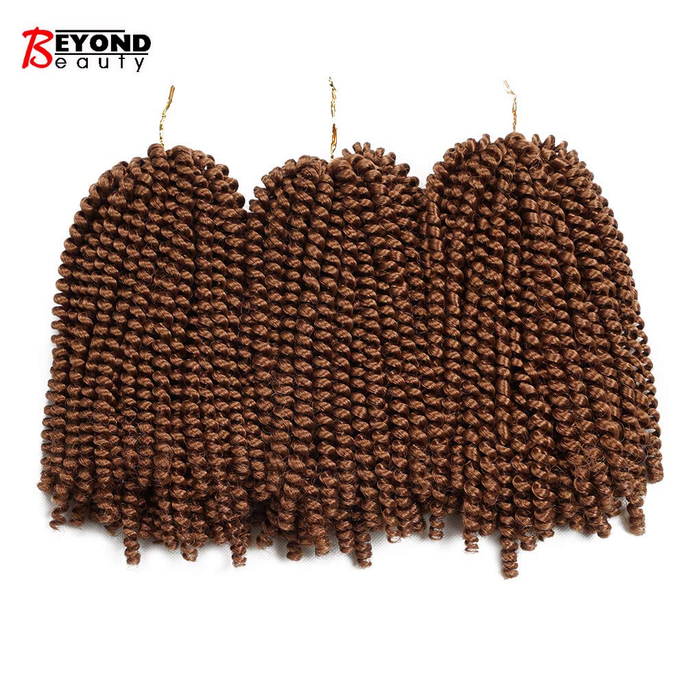 3 Packs Printemps Twist Crochet Tresses Bomb Twist Crochet Cheveux Ombre Couleurs Synthétique Extension de Cheveux Moelleux 8pouces 110g(#1B) Beyond Beauty