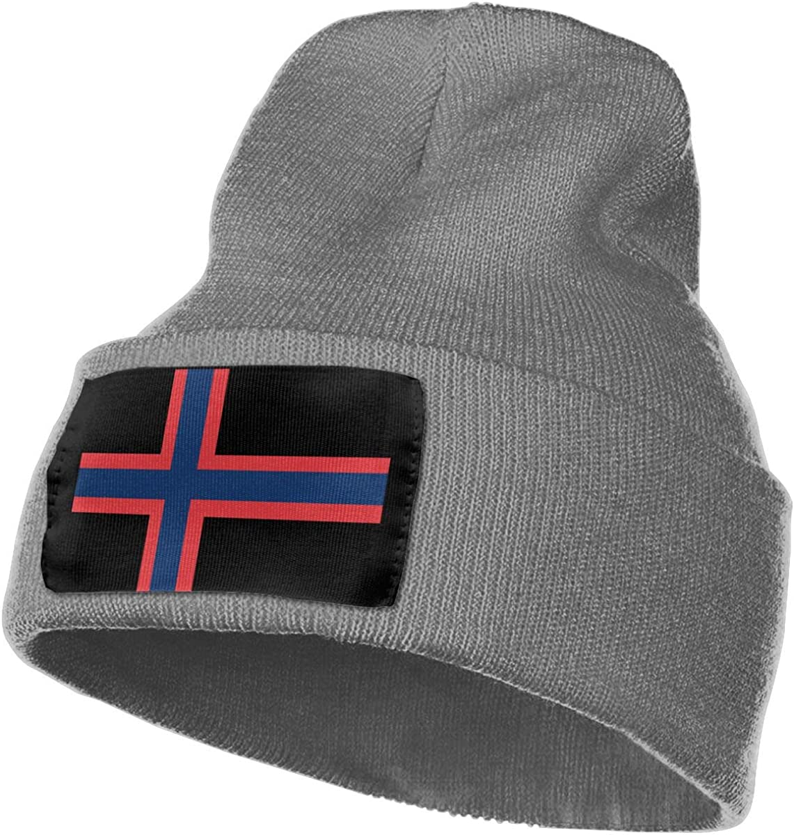 WHOO93@Y Mens Womens 100/% Acrylic Knitted Hat Cap Red Blue Flag of Norway Cute Skull Beanie
